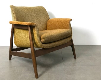 Vintage Sculptural Walnut Lounge Chair 1960's