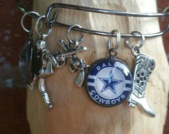 Wire Dallas football bracelet (your choice of images)