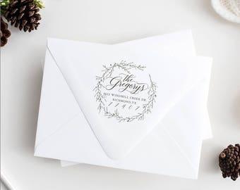 Christmas Return Address Stamp, custom rubber stamp, christmas stamp, custom stamp, self-inking return address stamp, address stamp
