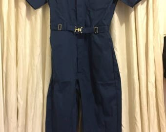 Vintage 60's/70's Navy Union Workwear Jumper d00KDq
