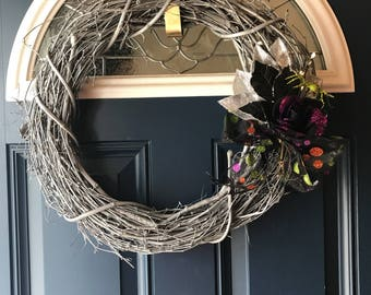 Platinum Halloween Wreath