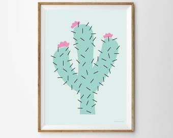 Cactus Children's Print, cactus print, cactus, kids poster, nursery, nursery print
