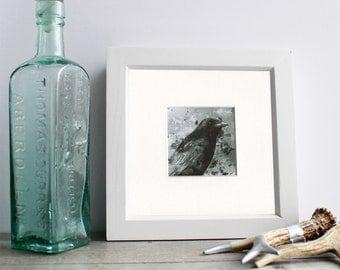 Crow art Crow art print Gothic crow gothic art print crow illustration bird art print gift for a goth bird lover gift wall art good luck