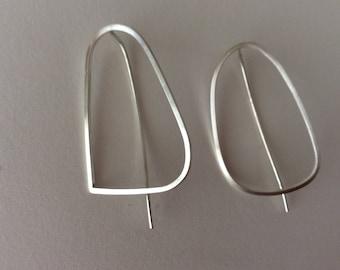 Sterling silver modern contemporary designer earrings