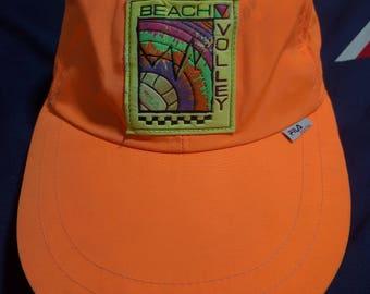 vintage 90s fila sportwear beach volleyball flexfits cap hat