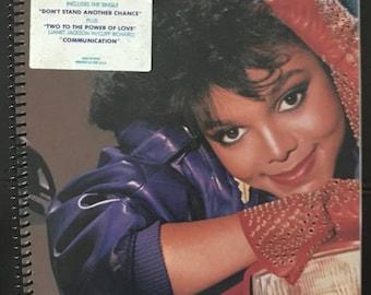 "Janet Jackson  LP notebook (8.5"" x 11"")"