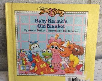 Vintage Muppet Babies book,  Jim Henson's Muppet Babies book, Muppet Babies, Baby Kermit's Old Blanket
