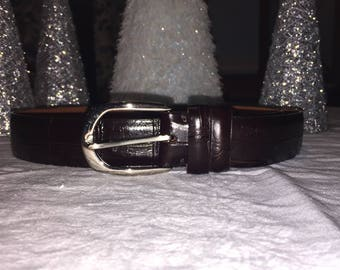 VINTAGE COLE HAAN Brown Leather Men's Belt 40