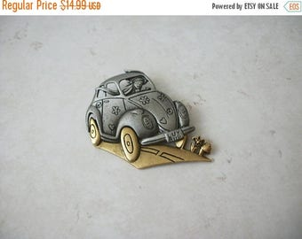 ON SALE Retro Two Tone Luv Bug Pin 62217
