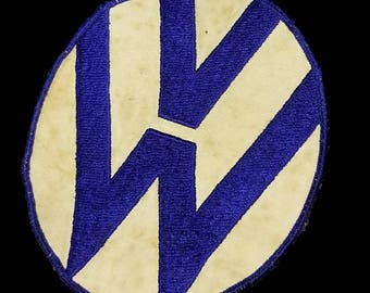 Vintage ~ Amazing ~ Embroidered ~ VW ~ Service ~ Great Condition ~ Museum Quality ~ Wow!