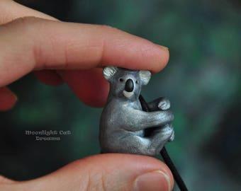 Koala Pendant, Koala Necklace, Animal Jewelry, Koala Jewelry, Cute Jewelry, Koala, Gifts for Her