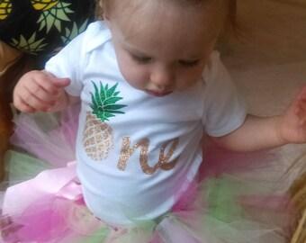 Pineapple onesie, Pineapple birthday, pineapple first birthday, pineapple birthday shirt, glitter pineapple shirt, glitter birthday onesie