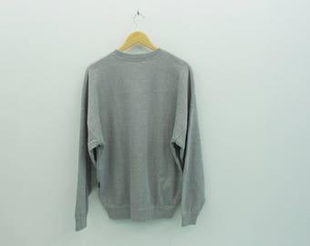 Trussardi Sweatshirt VINTAGE Trussardi Jeans Gray Sweatshirt Size 48
