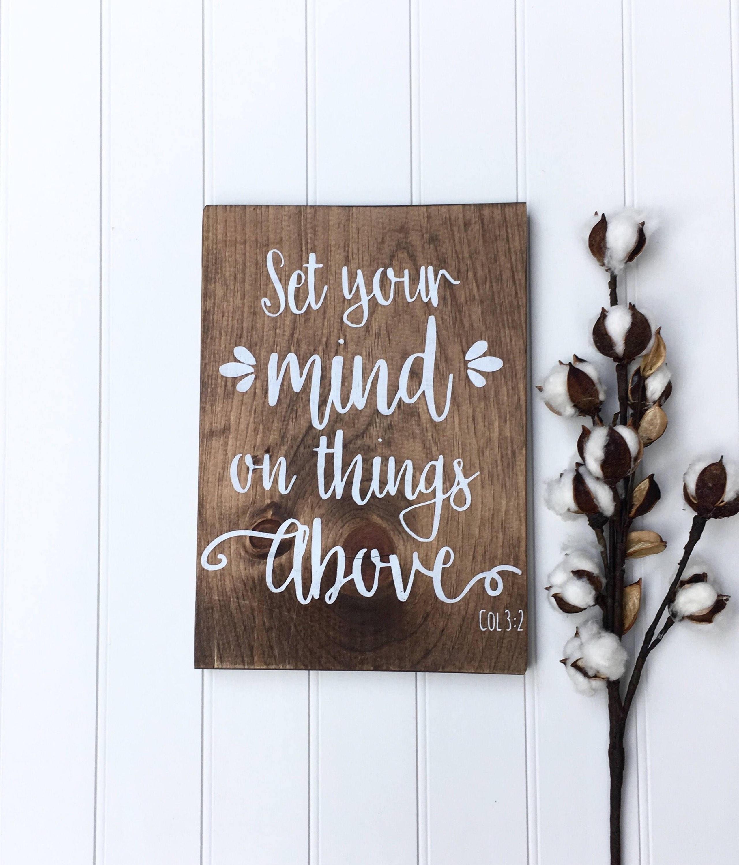 wood signs sayings bible verse wall art wood wall art. Black Bedroom Furniture Sets. Home Design Ideas