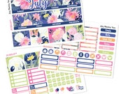 JULY Monthly View Planner Stickers Kit