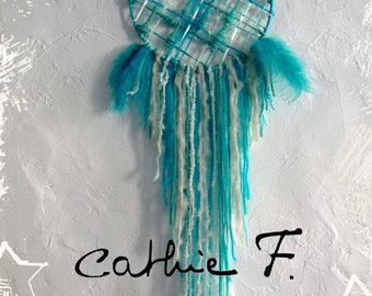 Dream catcher Dreamcatcher weaving TURQUOISE
