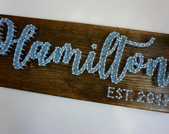 Custom Last Name String Art, Last Name Sign, Last Name Wedding Gift