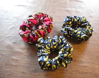 elastic scrunchie handmade African fabric