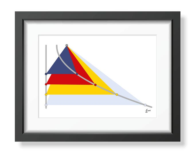 Parabola 08 [mathematical abstract art print, unframed] A4/A3 sizes