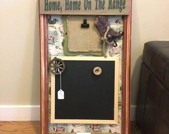 Home, Home, on the Range chalkboard