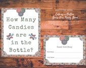 Cute as a Button Guess How Many Buttons are in the Bottle Baby Shower Game Instant Download Printable