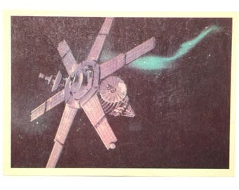 Soviet satellite Lightning vintage postcard satellite space collectible cards soviet postcard ussr unused postcard cosmos space galaxy card