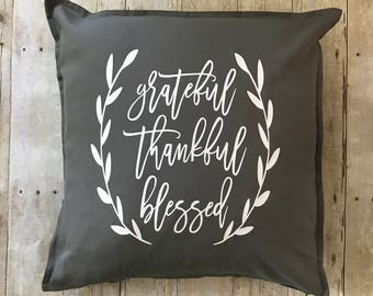 Grateful Thankful Blessed- Grateful Thankful Blessed pillow- fall decoration- fall decor- fall home- fall pillow- Thankful- Thanksgiving