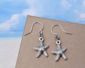 Star Fish Earrings, Ocean Earrings, Gifts For Her, Under 10, Beach Lover Gift, Ocean Lover Gift, Metal Star Fish Jewelry