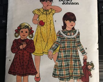 Vintage 80s Butterick 6177 Betsey Johnson Girl's Dress Pattern-Size 3 (22-20 1/2)