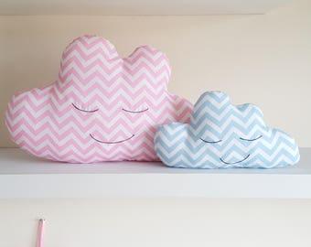 Chevron Cloud Cushion, Decorative Pillow, Crib Cushion, Cot Cushion, Nursery Cushion, Nursery Decor, Plush Cloud - Made to Order