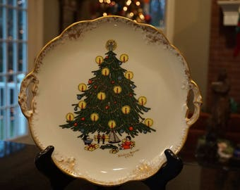 Christmas Tree Cookie or Sandwich Plate/1976