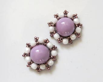 LAVENDER Stud Earrings Light Lavender Earrings Lavender Ear Studs lilac Earing Stud pastel Post Earrings light purple earrings