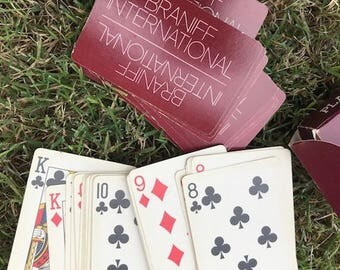 Braniff International Airways Deck, Braniff Playing Cards, Gameroom, Collectible, Gift