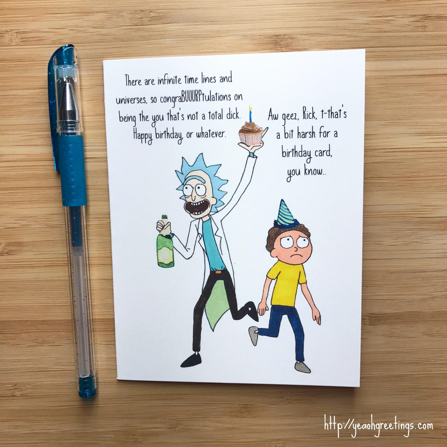 Rick and Morty Birthday Card Adult Swim Archer Robot Chicken