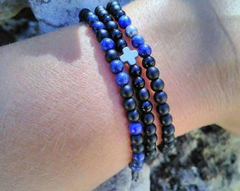 Cross and beads bracelets
