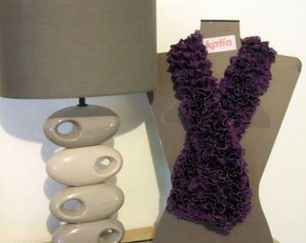 Frou frou scarf purple