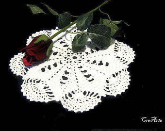 Small crochet White doily, Centrino piccolo bianco all'uncinetto