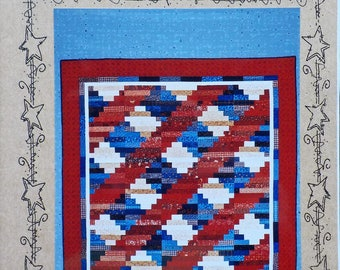 "Country Faces Quilt Pattern ~ ""Red, White & Blueberry"" #714"