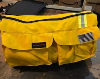 Yellow/ Yellow reflective 2 pocket duffel bag
