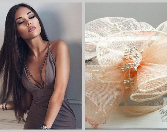 Extravagant Hat, Cocktail Hat, Wedding Fascinator, Party Veil, Birdcage Veil with Fascinator, Chic Hat, Couture Bridal Hat, British Event