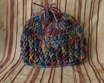Infant winter beanie hat, warm acrylic yarn beanie, crochet boys beanie hat, crochet girls beanie hat