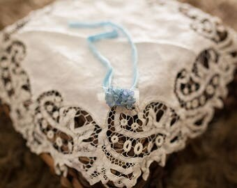 Blue Floral Tieback