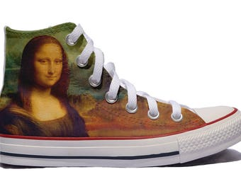 Mona Lisa Custom Converse Gioconda shoes Leonardo Da Vinci