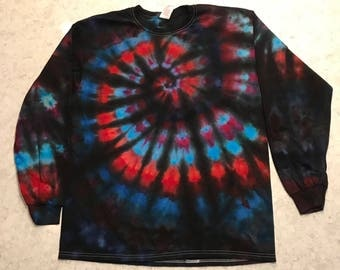 Large Ice Dyed Long Sleeve Shirt