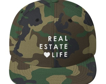 Real Estate <3 Life- Camo Snapback