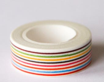 Washi tape - multicolored stripes