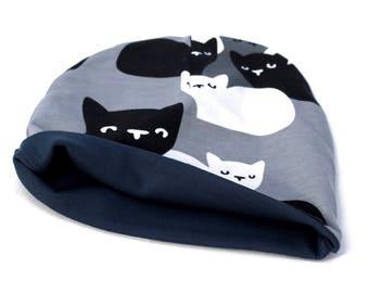 3-6m Slouch Beanie Hat, Baby Shower Gift, Baby Beanie Hat, Cute Kids Beanie, Kids Slouchy Beanie, Cat Lover Gift, Unisex Kids Hat
