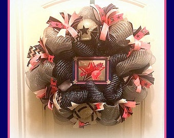 Dallas Cowboys Girls Wreath