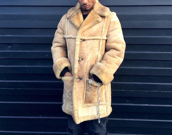 Nurseys Sheepskin Coat Golden Lion Fur Shearling Ranch Coat