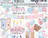 80%OFF - Baby Clipart, Baby Graphics, Commercial Use, Baby Party, Baby Shower Clipart, Baby Gender Clipart, Reveal Party, Welcome Baby, Cute